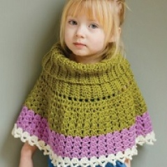 Colour-block Poncho