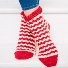 Heart Striped Socks