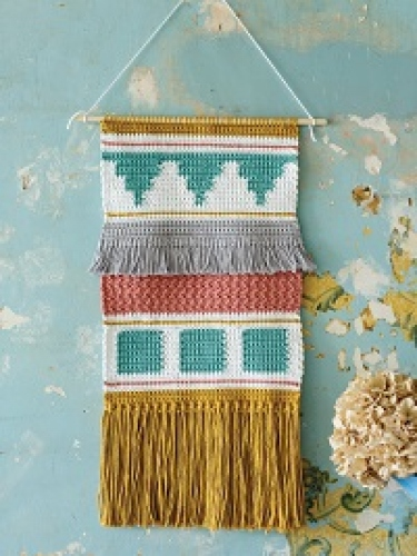 Win all the yarn needed to make issue 100's Fringed Wallhanging