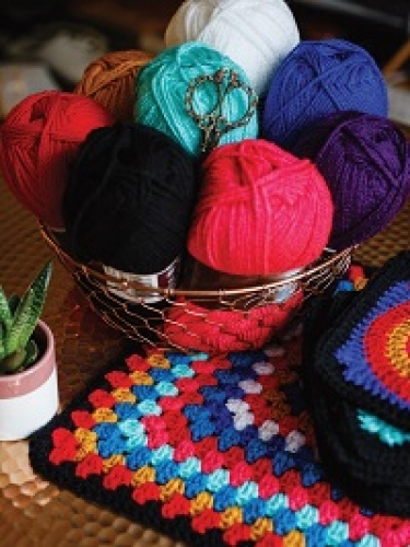 Win all the yarn needed to make issue 100's CAL Folklore Blanket