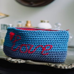 Love Denim Make-up Bag