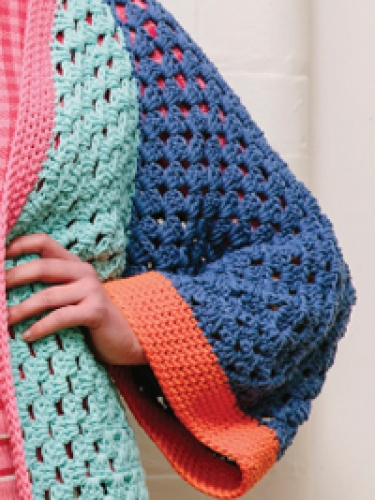 For a chance to win all the yarn to make the Colour Block Kimono