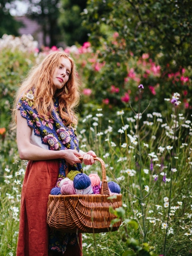 Win the complete Climbing Rose Wrap yarn bundle