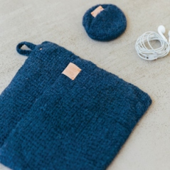 Felted Wall Storage Pouch & Ear Pod Pouch