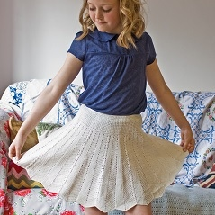 Chevron and cables skirt