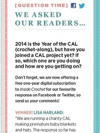 Question Time: Win a 1 year digital subscription to Inside Crochet!