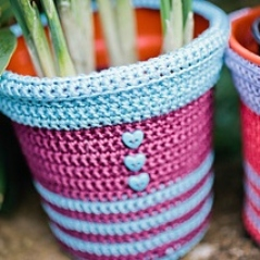 Flower Pot Covers Patterns Inside Crochet