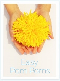 Free Tutorial: Easy yarn Pom-poms
