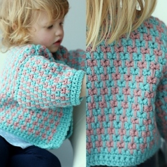 Spike Stitch Baby Cardigan