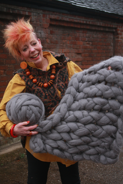 Ingrid Wagner will be at Wool 13 for arm knitting and left handed knitting sessions