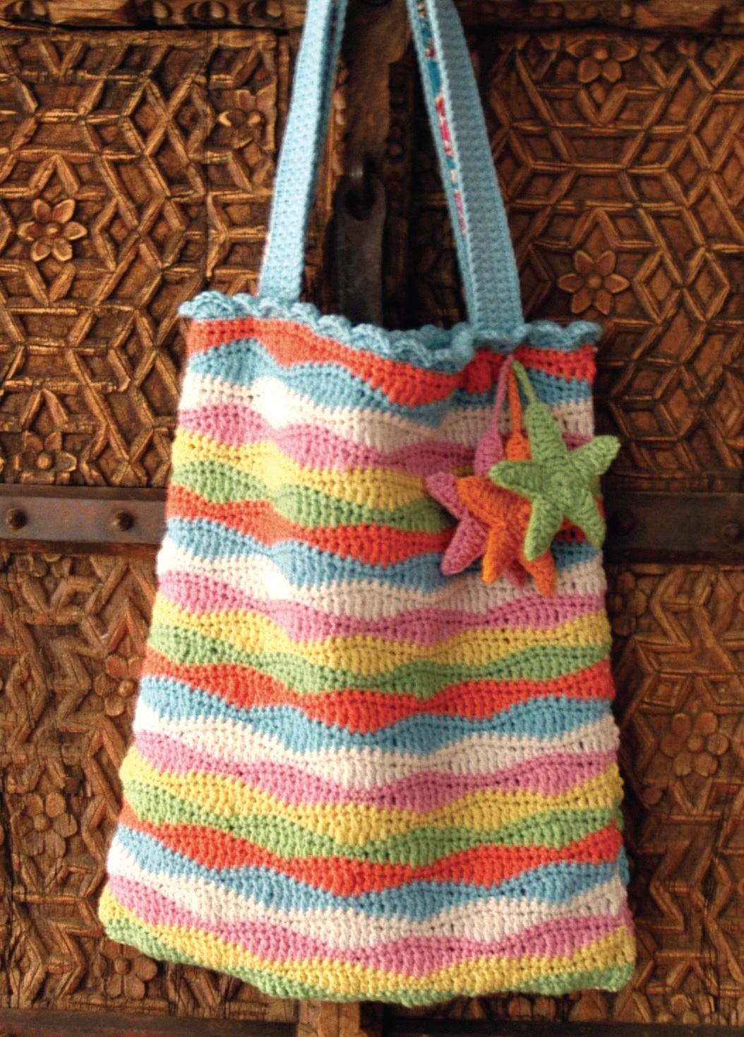 Вязание крючком пляжные сумки 91