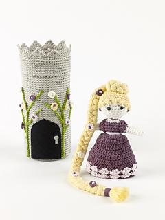 Amigurumi crochet Disney Princess Rapunzel doll pattern by ... | 320x240